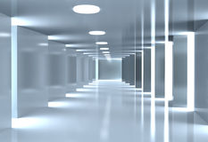 Modern abstract corridor Royalty Free Stock Photo