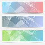 Modern abstract crystal structure cards set. Vector illustration Stock Images