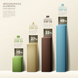 Modern abstract 3d chart infographics Stock Photos