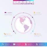 Modern Abstract 3D infographic netwerkmalplaatje Royalty-vrije Stock Foto's