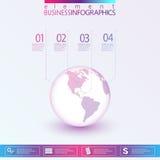 Modern Abstract 3D infographic netwerkmalplaatje Stock Afbeelding