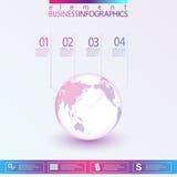 Modern Abstract 3D infographic netwerkmalplaatje Royalty-vrije Stock Afbeeldingen
