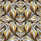 Modern abstract 3d naadloos patroon Griekse zeer belangrijke achtergrond stock illustratie