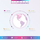 Modern Abstract 3D network template infographic Royalty Free Stock Photos