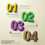 Modern abstract 3d number infographic elements. Template vector illustration