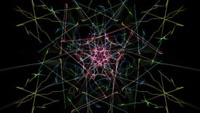 Modern abstract dark background. Silk symmetry series vector illustration