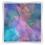 Modern Abstract Dark Colorful Polygonal backgrou Stock Images