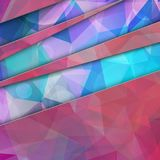 Modern Abstract Dark Colorful Triangle Polygonal backgrou Royalty Free Stock Photos