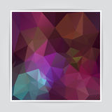 Modern Abstract Dark Colorful Triangle Polygonal Royalty Free Stock Photo