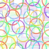 Modern abstract decorative tile with circles and squares Stock Photo