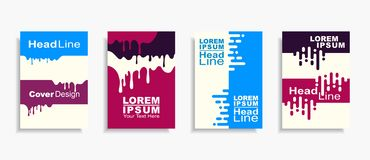 Modern abstract design covers set. Vector illustration. royalty free stock images