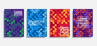 Modern abstract design covers set. Vector illustration. royalty free stock photography