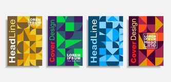 Modern abstract design covers set. Vector illustration. stock photos