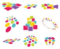 Modern abstract design elements Stock Image