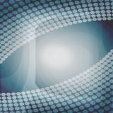 Modern abstract design with transparent dots on gray and blue area Royalty Free Stock Photos