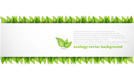 Modern abstract ecology banner Stock Image