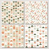 Modern abstract geometric background with triangles. Set of triangle seamless pattern. Modern abstract geometric background with triangles. Scandinavian style vector illustration