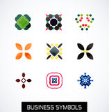 Modern abstract geometric business icons. Icon set Stock Photo