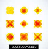 Modern abstract geometric business icons. Icon set Royalty Free Stock Photography
