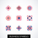 Modern abstract geometric business icons. Icon set Royalty Free Stock Photo