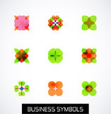 Modern abstract geometric business icons. Icon set Stock Photography