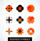 Modern abstract geometric business icons. Icon set Stock Images