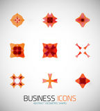 Modern abstract geometric business icons. Icon set Stock Image