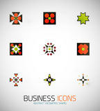 Modern abstract geometric business icons. Icon set. This is file of EPS10 format Royalty Free Stock Photos