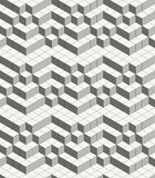 Modern abstract geometric ornamental texture with isometric structure of repeating cubes Stock Photography