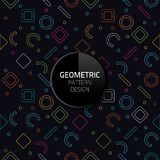 Modern Abstract Geometric pattern template vector seamless background design eps 10. Modern Abstract Geometric pattern template vector seamless background design Royalty Free Stock Image