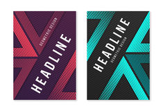 Modern abstract geometric a4 size cover designs for brochure mag. Azine flyer report catalog. Vector illustraion Stock Photography
