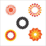 Modern abstract geometric vector sun icons Royalty Free Stock Photography