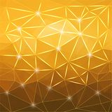 Modern abstract geometric yellow background Royalty Free Stock Photo