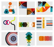 Modern abstract geometrical background templates Stock Images