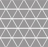 Modern abstract geometry pattern triangle black and white color Royalty Free Stock Images