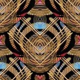 Modern abstract gestreept naadloos patroon vector illustratie