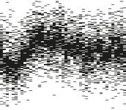 Glitched audio wave Stock Photography