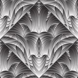 Modern abstract grijs 3d vector naadloos patroon royalty-vrije illustratie