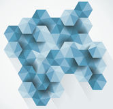 Modern abstract hexagon background. Royalty Free Stock Image