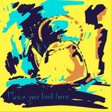 Modern abstract illustration. Modern abstract illustration of a yellow teapot Stock Illustration