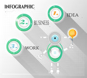Modern, abstract infographic with numbers, text. Modern, abstract infographic with robot and light bulb Royalty Free Stock Photography