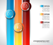 Modern Abstract Infographic template to display data Royalty Free Stock Photos