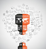 Modern Abstract Infographic template to display data Stock Photos