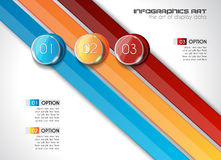 Modern Abstract Infographic template to display data Royalty Free Stock Image