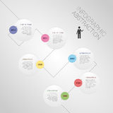 Modern abstract infographics timeline vector. Illustration Royalty Free Stock Photography