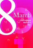 Modern abstract 8 March poster. International Womes Day. Vector,  eps 10 Stock Image