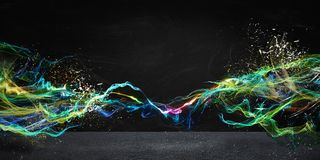 Modern abstract motion banner. On dark background