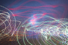 Modern abstract motion banner on dark background Royalty Free Stock Image