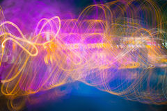 Modern abstract motion banner on dark background. Stock Image