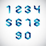 Modern Abstract Number Alphabet Royalty Free Stock Image